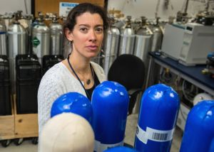 Gabrielle Petron is an atmospheric scientist at NOAA Boulder. She specializes in monitoring methane emissions. (Photo by Ted Wood/The Story Group)