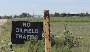 no oilfield traffic