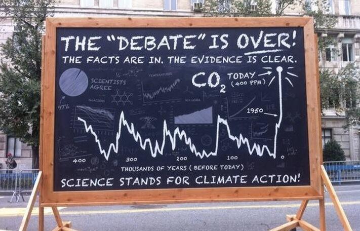 science chalkboard