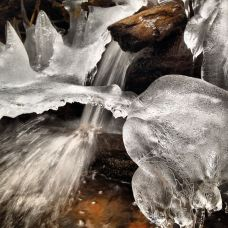By contrast, this mid-October ice formation along Meadow Creek, near Frisco, Colorado, is fed by unpolluted water from a drainage that doesn't have great mineral deposits.