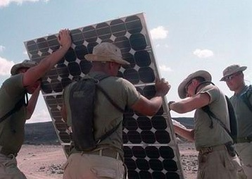 soldiers solar panel