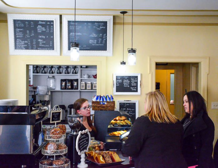 The Spring Café on opening day in 2015. The café, which offered employment to immigrants and refugees and helped them integrate into American society, closed earlier this month as a direct result of the Trump administration's cut in refugee admissions. (Photo courtesy of Paula Schriefer)