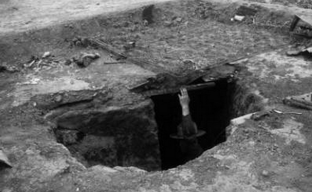 'The death pit' where children and their mothers died.