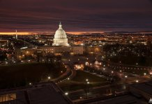 View of the U.S. Capitol from the Library of Congress. (Photo credit: Architect of the Capitol. www.aoc.gov)
