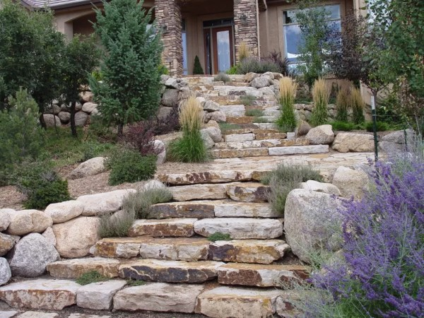 stone steps landscaping colorado