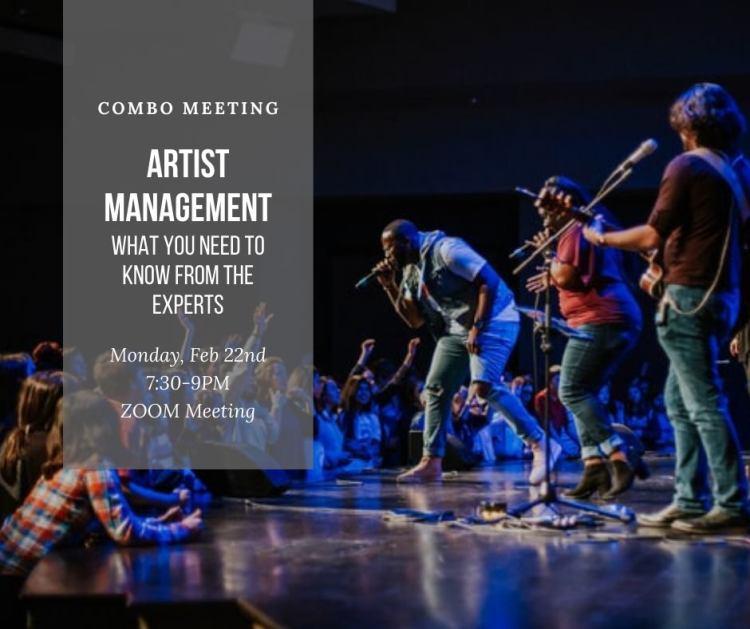 artist management COMBO meeting
