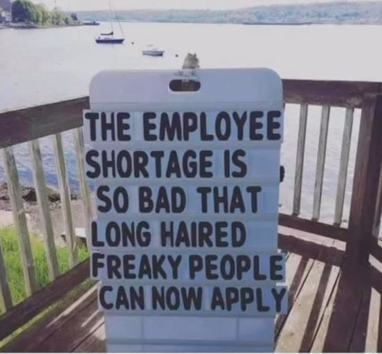 Freaky people sign
