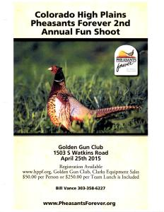 Colorado High Plains Pheasants Forever