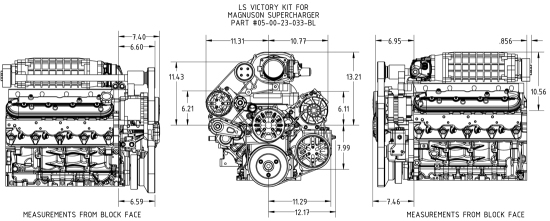 CONCEPT ONE VICTORY SERIES Pulley Kit (GM LS) [LSV01 SC01]