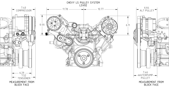 CONCEPT ONE Chevrolet LS Victory Pulley Kit (Variable