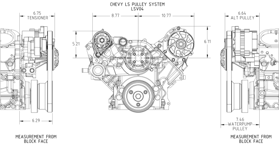 CONCEPT ONE Chevrolet LS Victory Pulley Kit [LSV04]