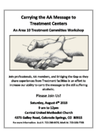 A10 treatment workshop flyer 2018