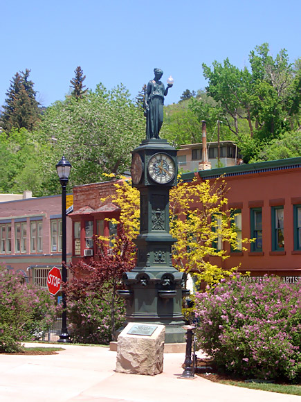 Wheeler Town Clock  Manitou Springs Colorado CO photo