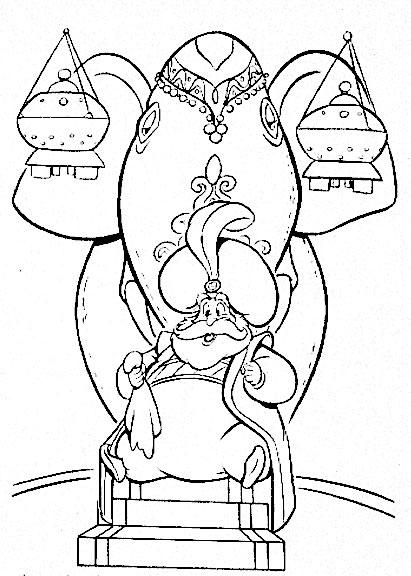 Aladino 11, Disegni per bambini da colorare