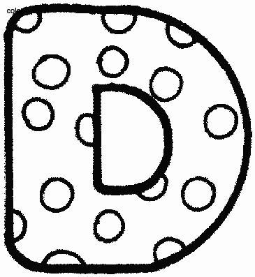Alfabeto Pois, Disegni per bambini da colorare