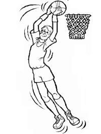 Basket, Disegni per bambini da colorare