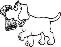 Cani, Disegni per bambini da colorare