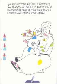 Colora Fiaba Cappuccetto Rosso 3, Disegni per bambini da