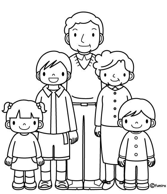 Family Members Coloring Pages Sketch Coloring Page