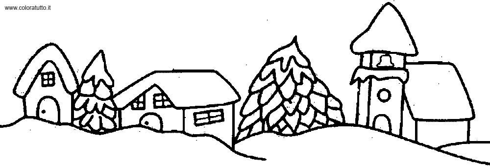 Inverno 2 Disegni per bambini da colorare