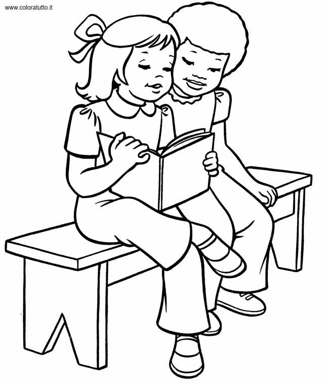 Libri, Disegni per bambini da colorare
