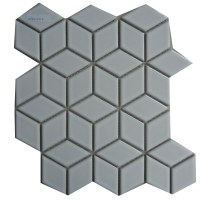 Diamond shape ceramic tile