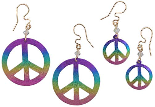 Peace Hoop Earrings Journee Collection Sterling Silver
