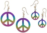 Peace Hoop Earrings Journee Collection Sterling Silver ...
