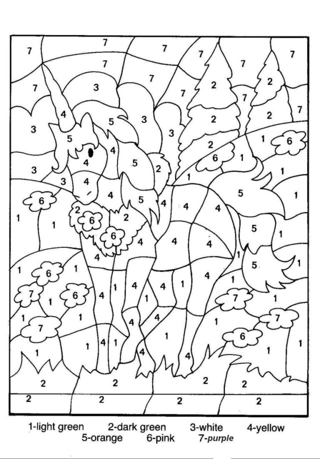 printable color by number multiplication pdf free  Color by