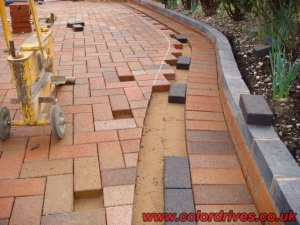 Cutting in block paving