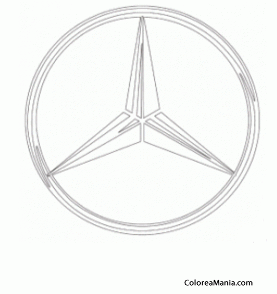 Mercedes Benz Logo Coloring Pages Sketch Coloring Page