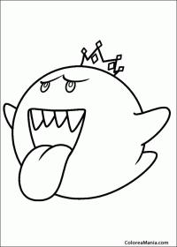 Colorear Rey Boo (Super Mario Bross), dibujo para colorear ...