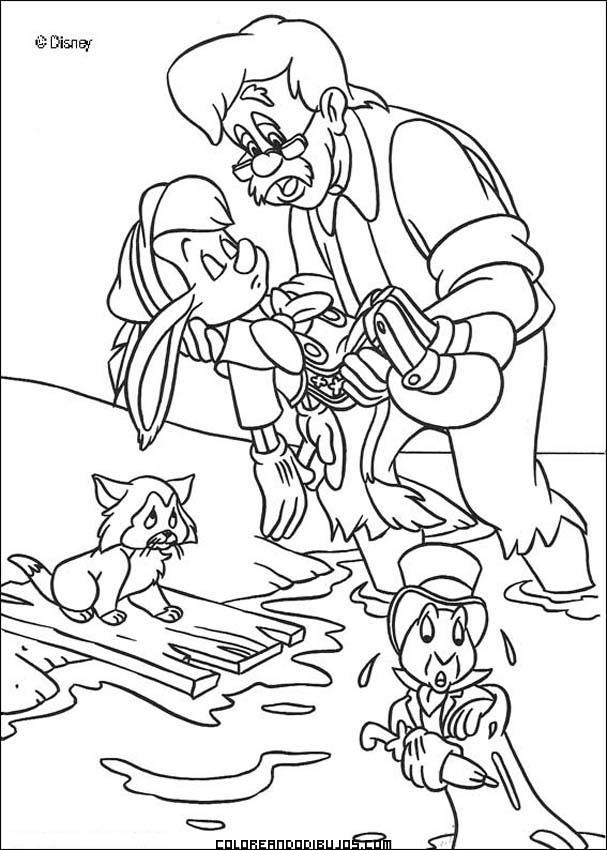Dibujos Para Colorear Pinocho Y Gepetto
