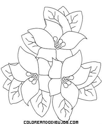 Ramo de flores para colorear