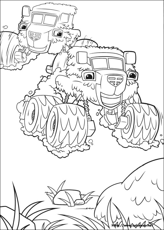 Dibujos Para Colorear De Blaze And The Monsters Machine