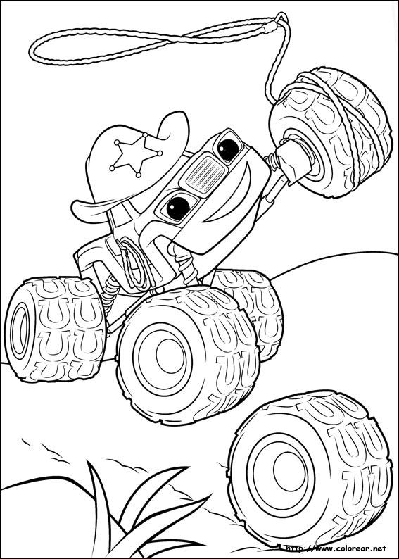 Dibujo De Blaze De Blaze Y Los Monster Machines Para Colorear