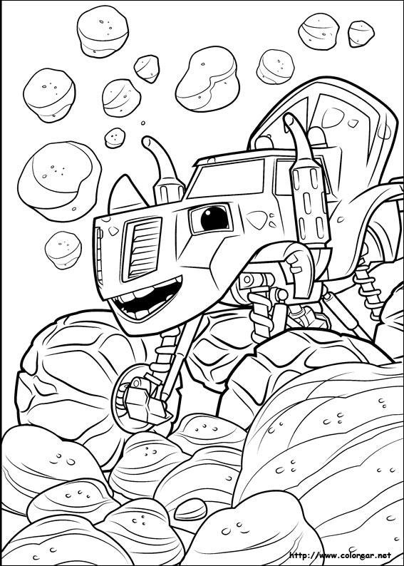 Agora eles podem colorir seus personagens favoritos. Dibujos para colorear de Blaze y los Monster Machines