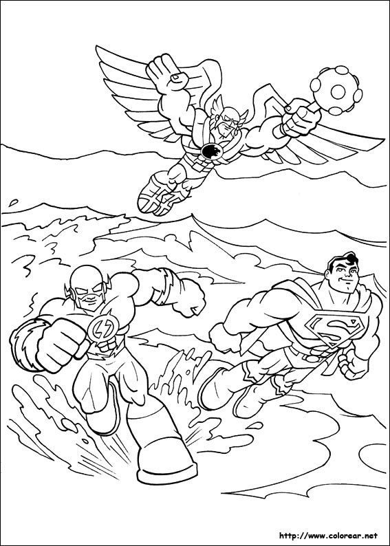 Free dc comic flash coloring pages