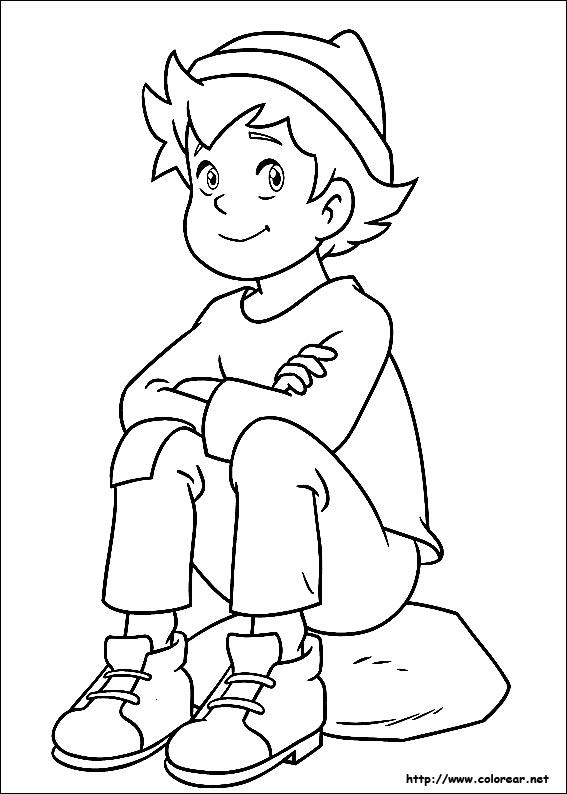 Dibujos para colorear de Heidi