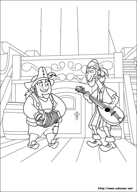 Dibujos Para Colorear De Jake Y Los Piratas