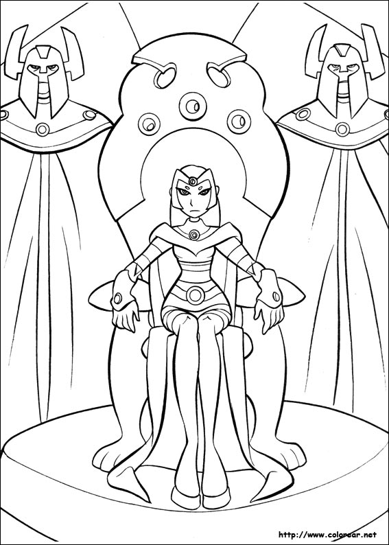 pintar starfire coloring pages