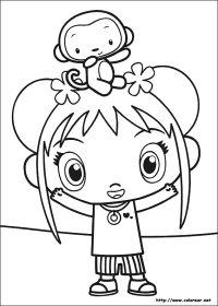 Dibujos De Niños Rezando Para Colorear Ni Hao Kai Lan