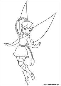 Dibujos para colorear de Campanilla. El secreto de las hadas