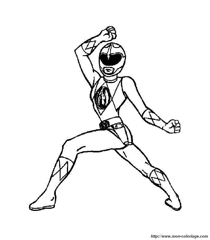 Colorear Power ranger, dibujo 003