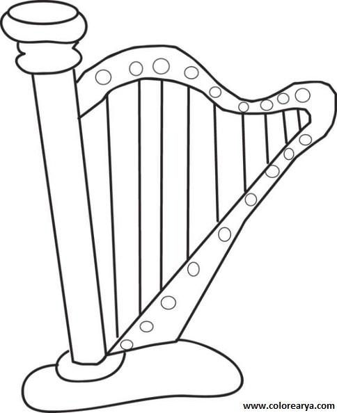 Dibujos Instrumentos Musicales Para Colorear Con Nombres