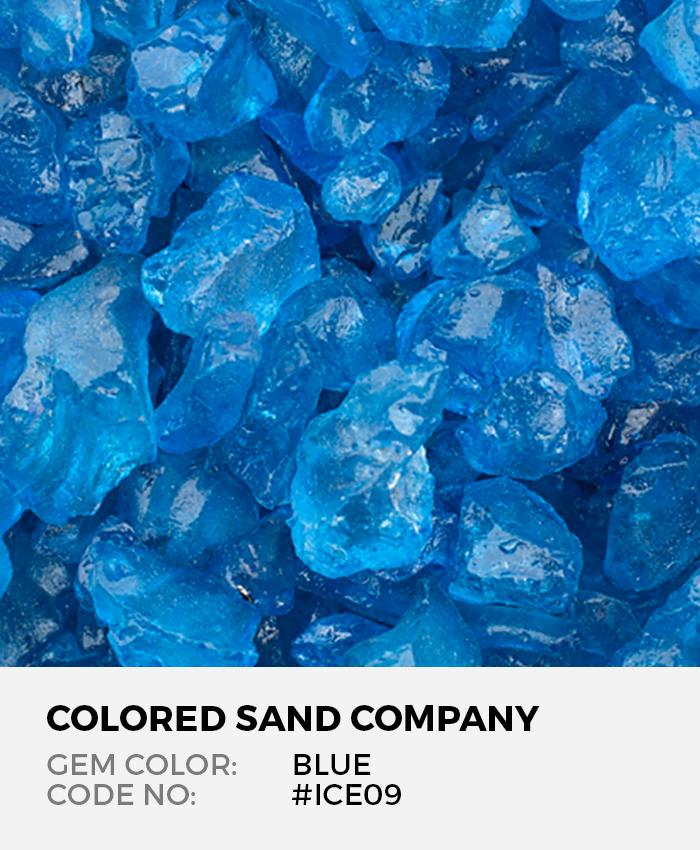 Blue ICE09 Colored ICE Decorative Glass Gems