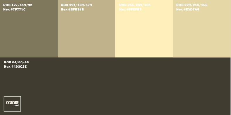 Grazie all'impiego di sfumature chiare e scure del medesimo colore, ciascuna stanza risulterà caratterizzata da una atmosfera differente. Tabella Di 5 Colori Per Pareti Abbinati Tra Di Loro