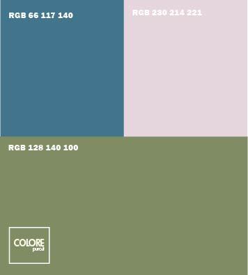 Abbinamento colori verde salvia grigio azzurro