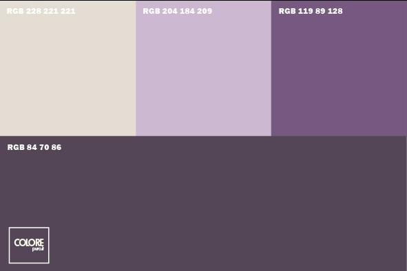 Abbinamento diverse tonalit di viola