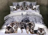 Colorful Mart: Wolves White Bedding Animal Print Bedding ...